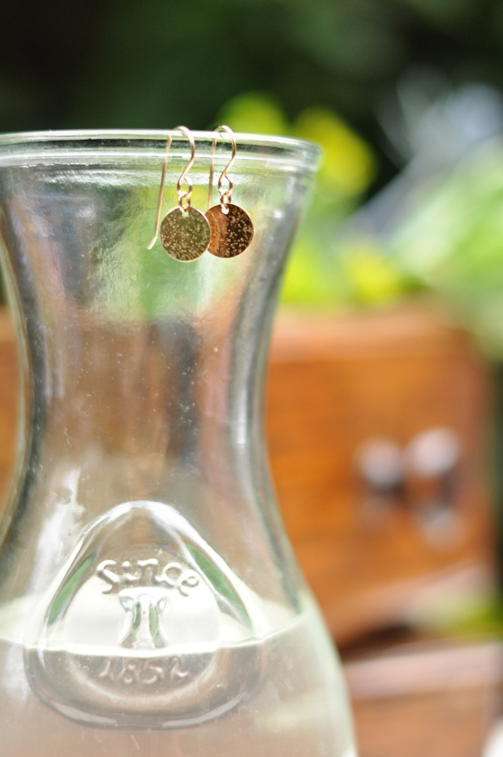 Radiance coin earrings